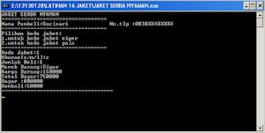 Download Tugas Besar Pemograman C++ Kasir Toko Baju