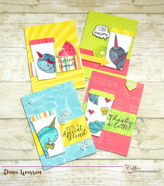 Dana Warren - Kraft Paper Stamps - Sweet Stamp Shop - Photoplay Paper