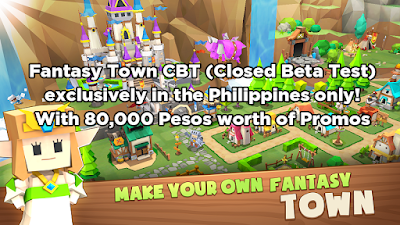 FantasyTown CBT Exclusively in the Philippines only! With ₱80,000 worth of Promos