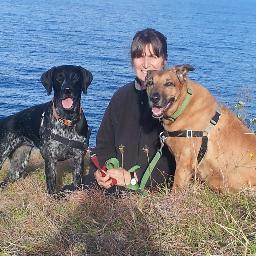 Barbara Hodel Goodog Positive Dog Training and her dogs