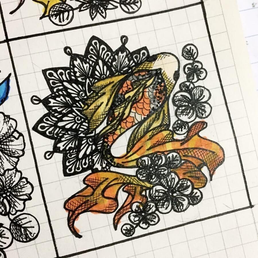 10-Orange-Koi-Fish-Lidiia-Varichenko-www-designstack-co