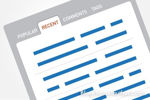 Hướng dẫn tạo widget dạng Tab cho Blogspot