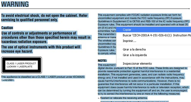 Copiar el texto de archivo PDF