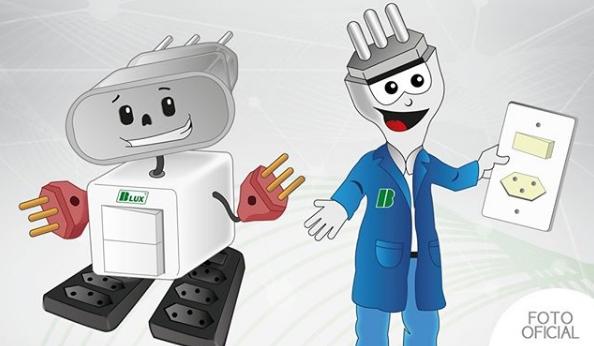 Tem Na Web - De nomes a esses dois carinhas os novos mascotes da B.Lux Tomadas e Interruptores