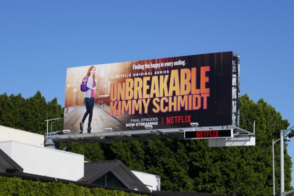 Unbreakable Kimmy Schmidt season 4 final episodes billboard
