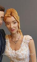 cake topper ritratto sposi realistico sposa bionda da foto punto luce orme magiche