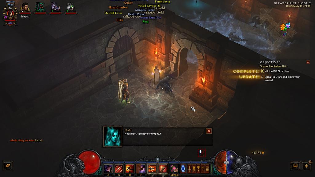 ぶろぐ: 【Diablo3】ソロGR48でジェム上げ地獄