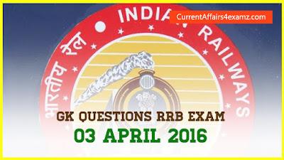 Railway Exam 2016