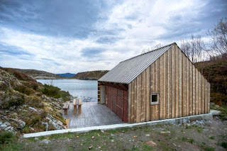 Vivienda en los fiordos noruegos