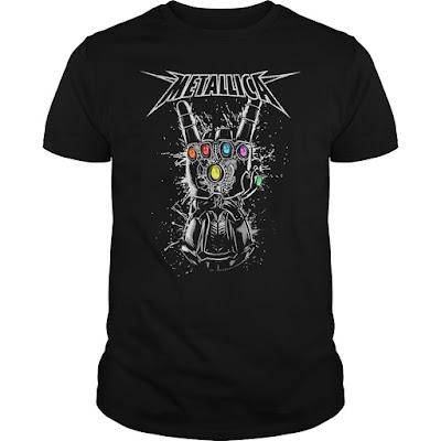 Metallica Infinity Gauntlet T Shirt Hoodie sweatshirt