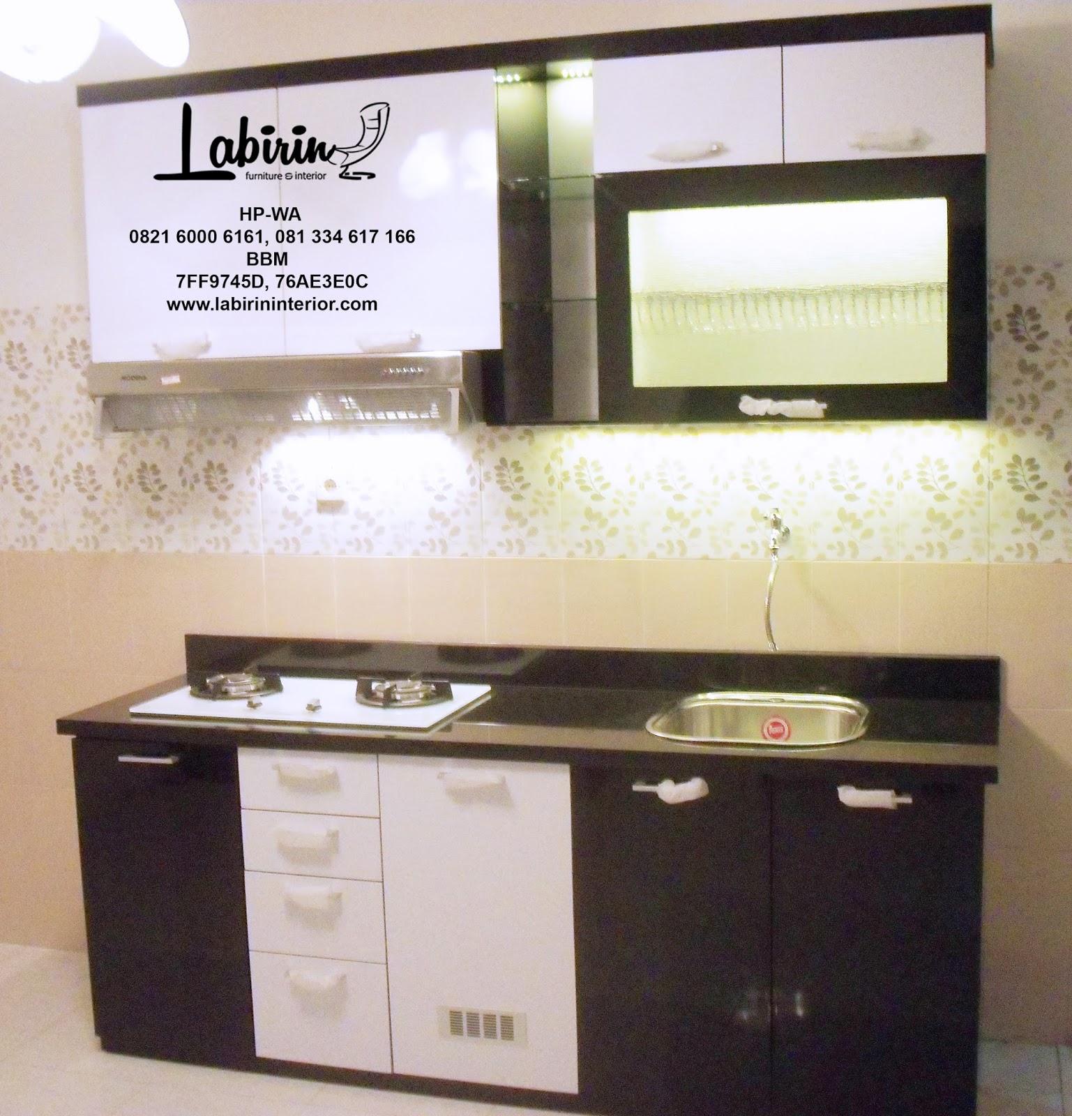 "Kitchen Set Surabaya: ""Minor Black White"" IBUDIAH, WARU"