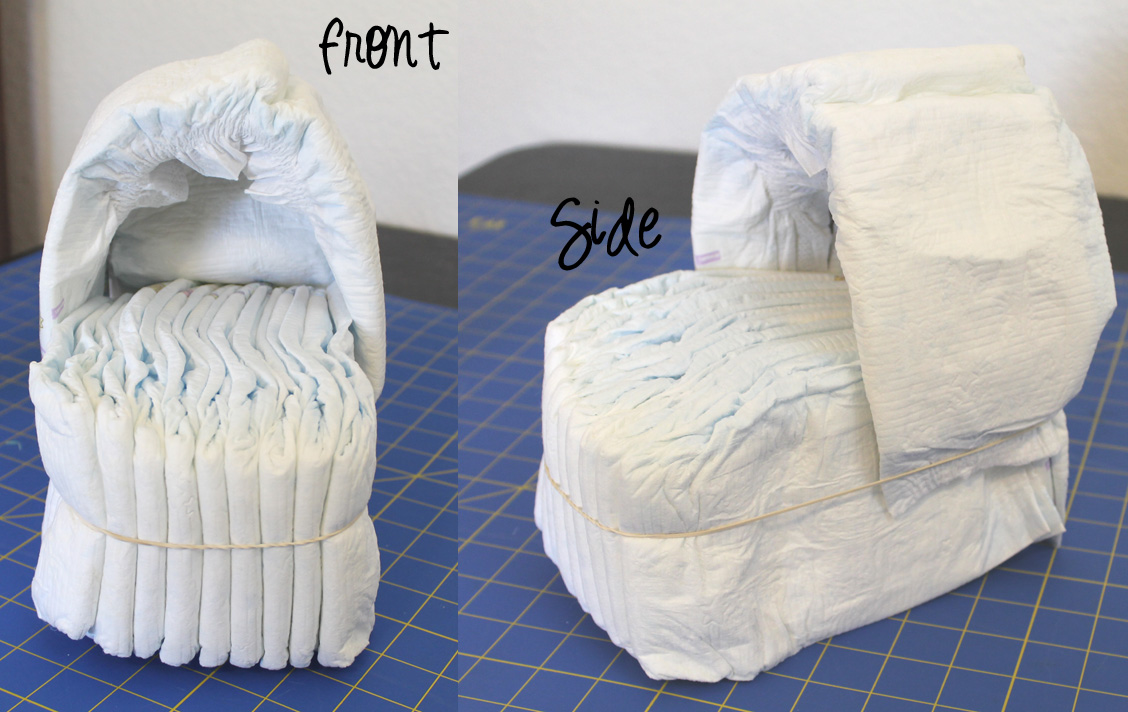 Rolled Diaper Cake Tutorial Diaper Cake