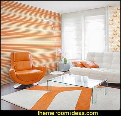 Barcode Stripe Wallpaper, Orange