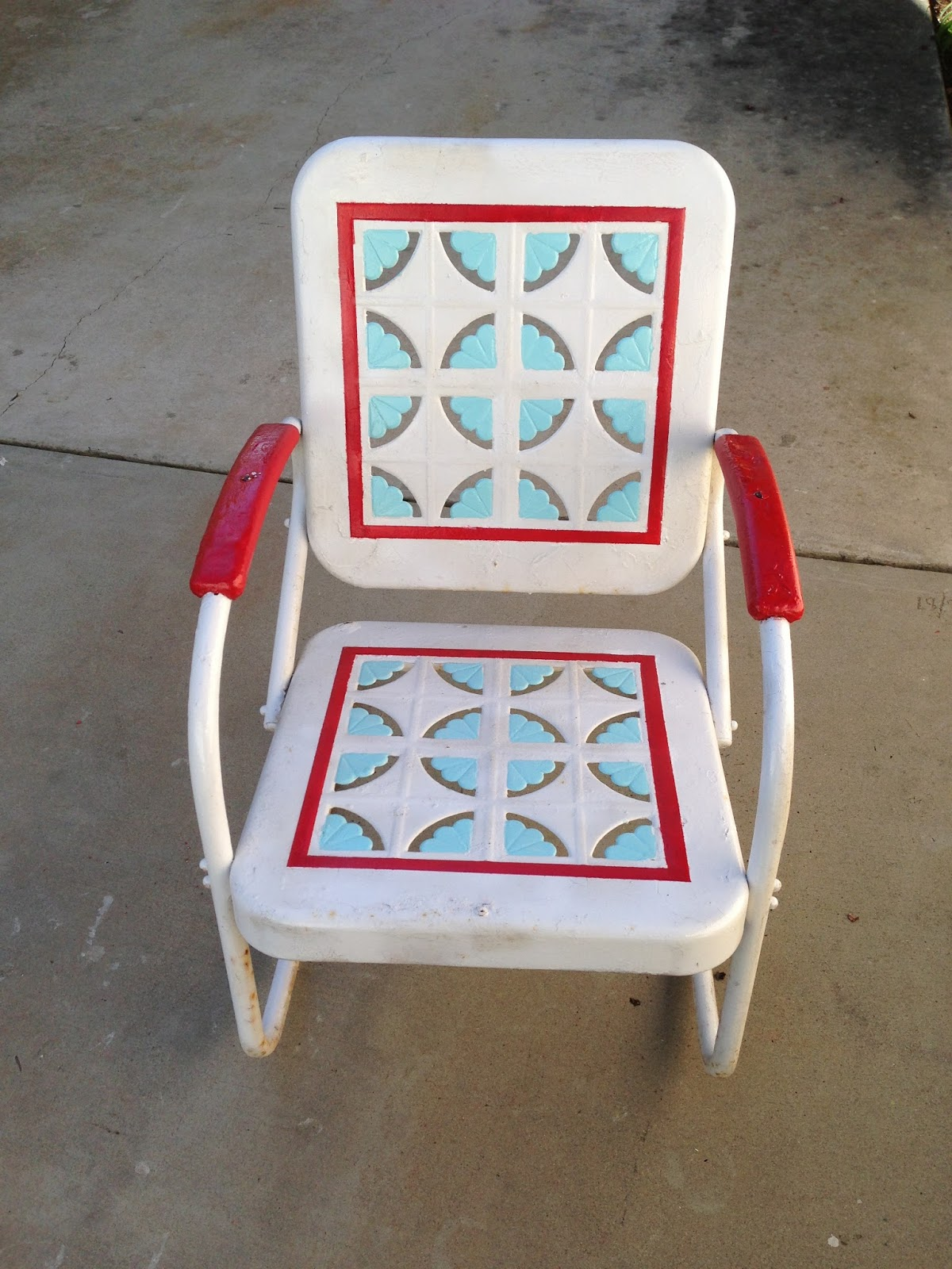 Cherry Picked Vintage Motel Chair Transformation Score