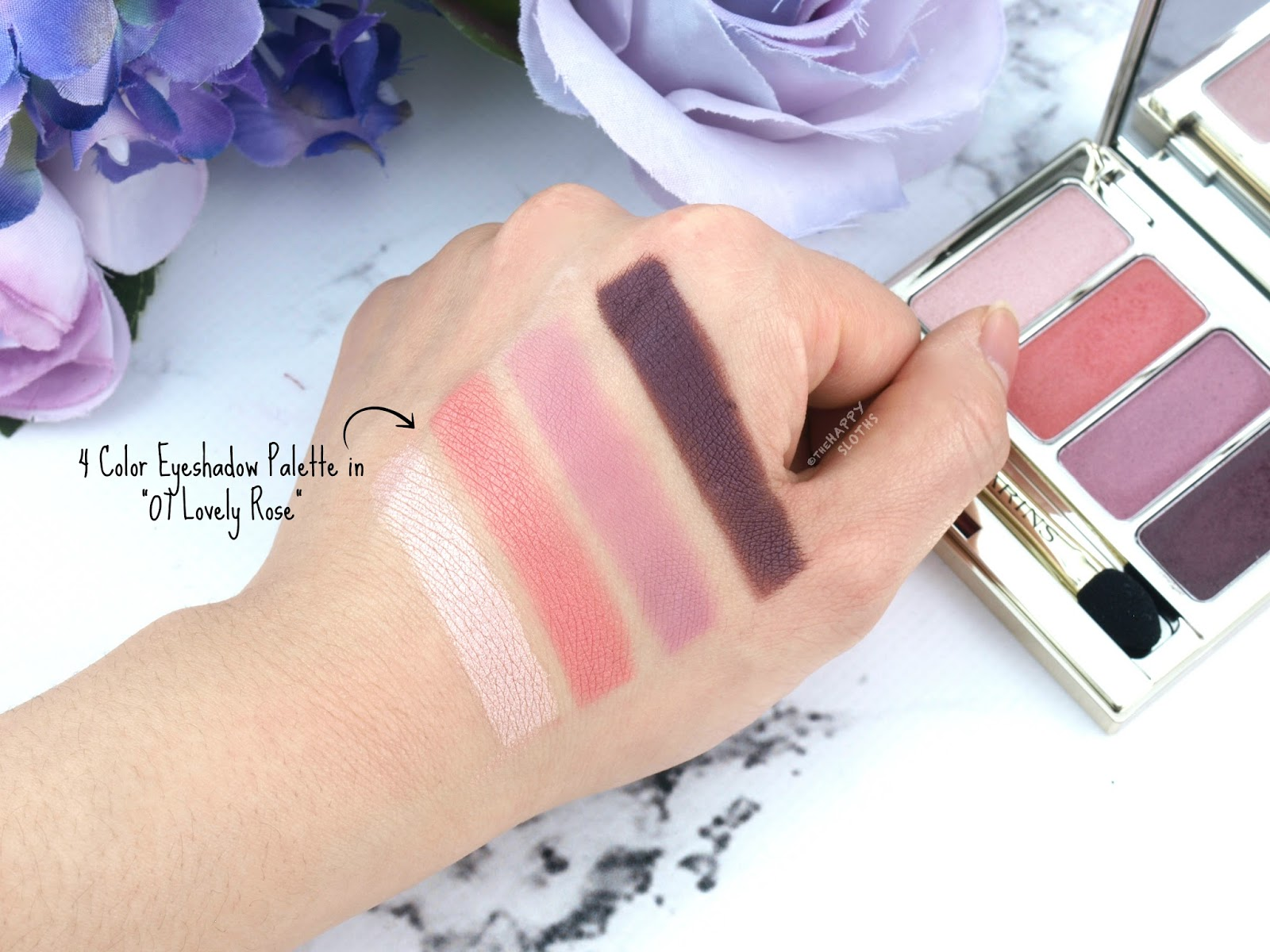 Clarins Spring 2018 Collection | 4 Color Eyeshaodw Palette: Review and Swatches