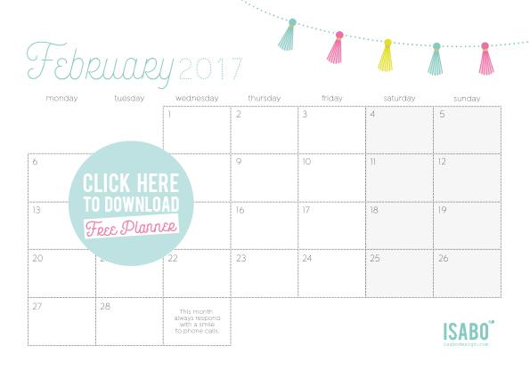 Isabodesign_Monthly-Planner-February-2017-Planner-Mensile