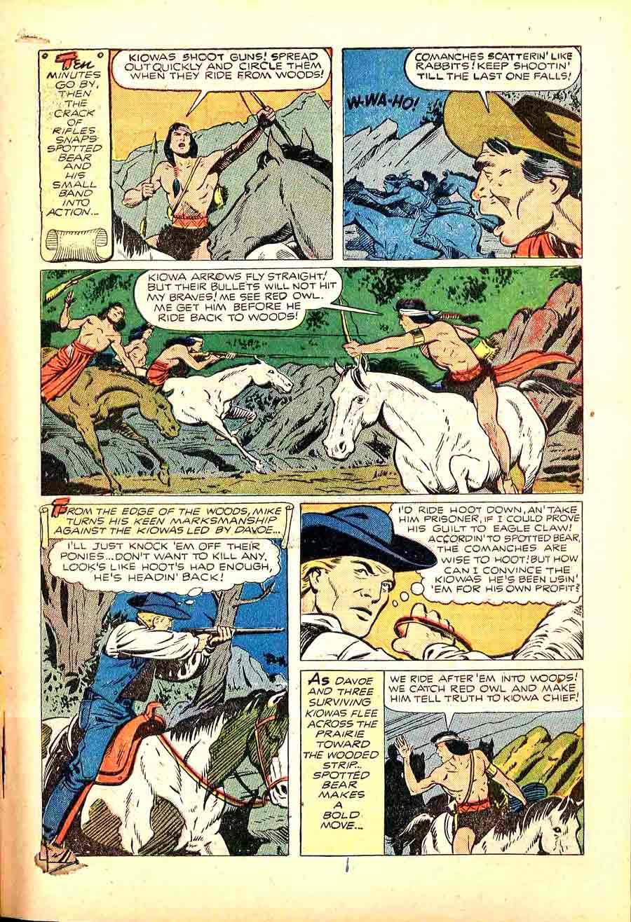 Matt Baker golden age 1950s st. john western comic book page - Texan #7