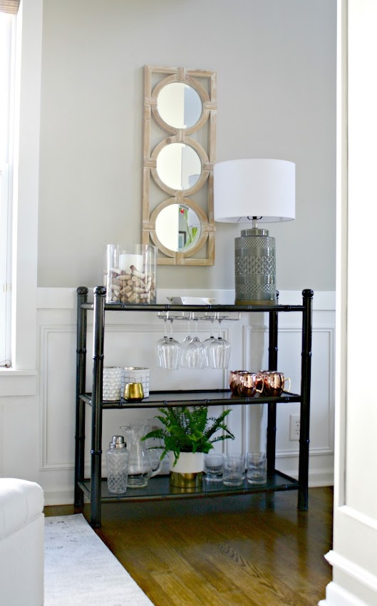 making a table into a bar cart