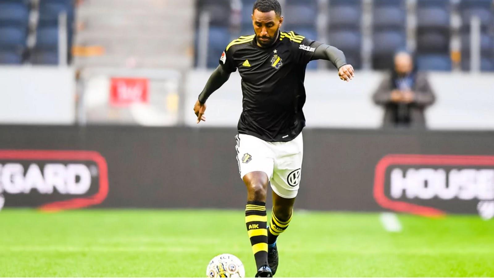 <Eritrean National team player Henok Goitomscores for AIK. Alexander Isak Scores for Sweden under 19.