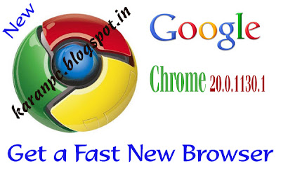 Google Chrome 20.0.1130.1