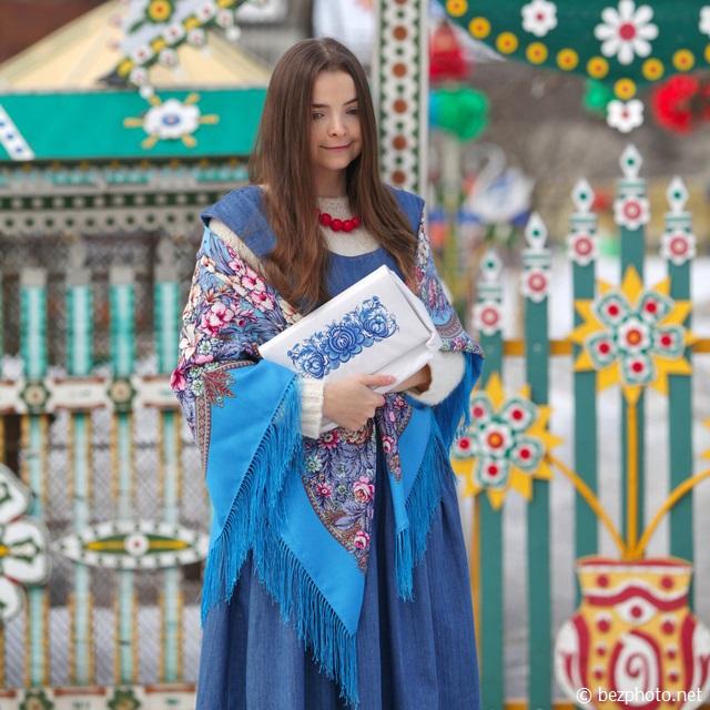 павлопосадские платки ношу фото