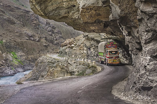 Gilgit-Skardu road is 225 km long road which connects the two cities in the northernmost part of the Pakistan