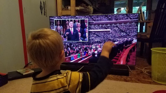 Life with kids is always funny, especially when you're a Latter-day Saint family watching General Conference. General conference quotes, treats and notes from General Conference October 2018 straight from the Evans household to yours. #generalconference #quotes #inspirational #lds #kids