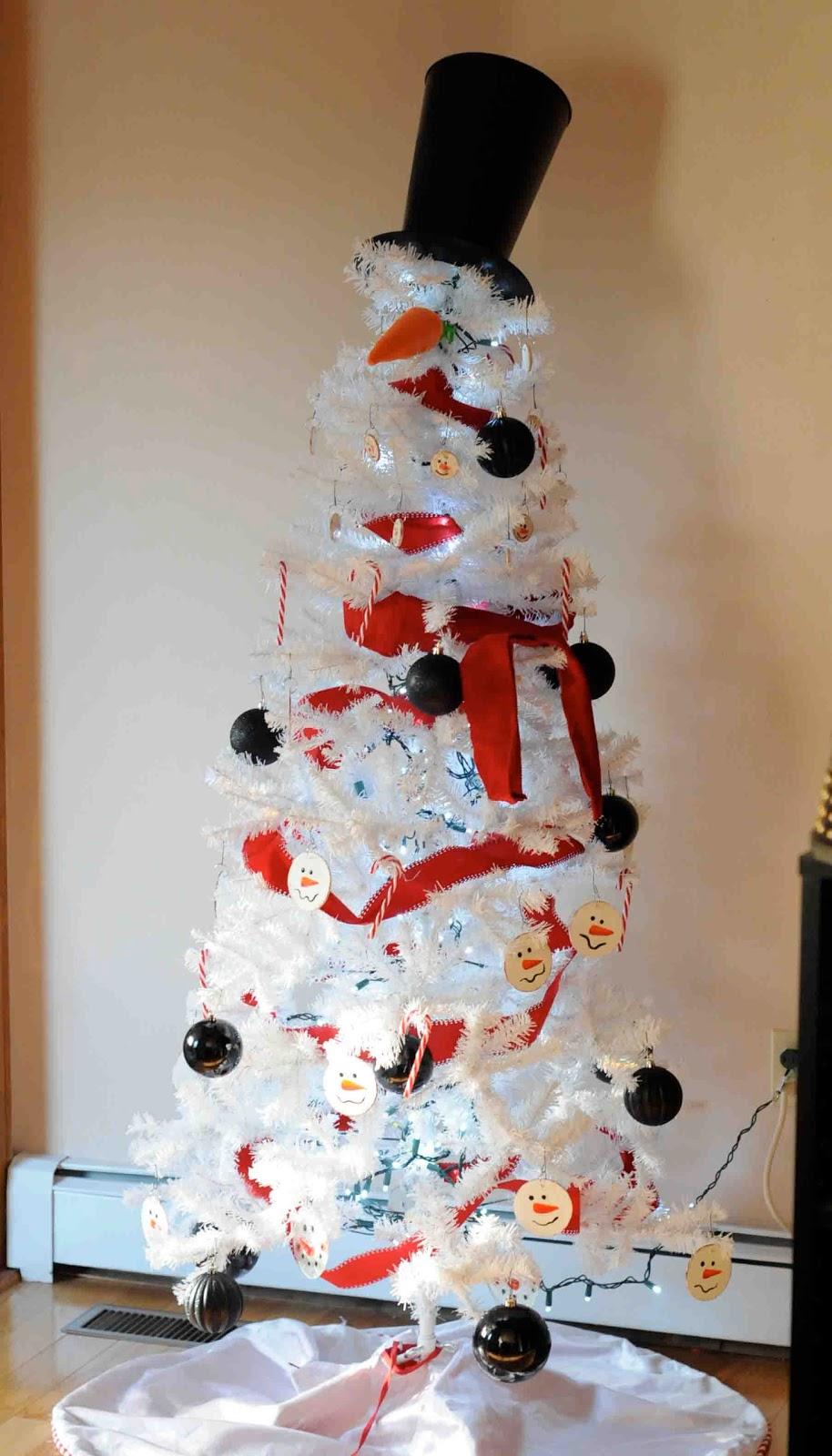 Gonna Stuff A Chicken Snowman Christmas Tree