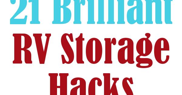 Popular DIY Home Sweet Home 21 Brilliant RV Storage Hacks
