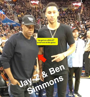 Jay Z wears bulletproof vest to basketball game (photos)