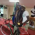Photos: Man who rode on a bicycle from Ibadan to Makurdi after completing his youth service gets automatic employment
