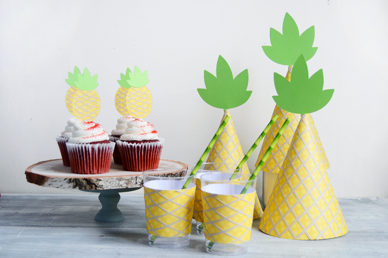 pineapply party printables