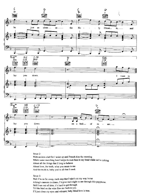 Bed Of Roses Partitura