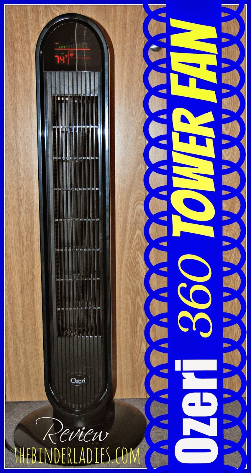 Ozeri 360 Tower Fan Review!  Perfect Fan For Cooling Down!
