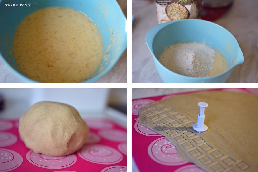 Rezept: Bananen-Joghurt Kekse Hundekekse selbst backen