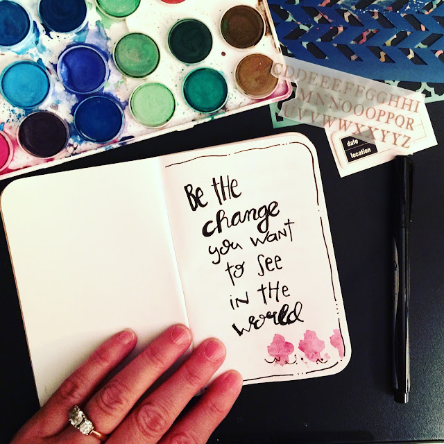 #hand lettering #lettering #field notes #journaling #quotes #change