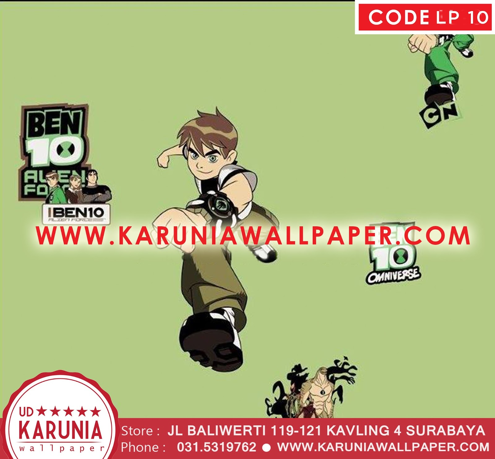 jual wallpaper ben10
