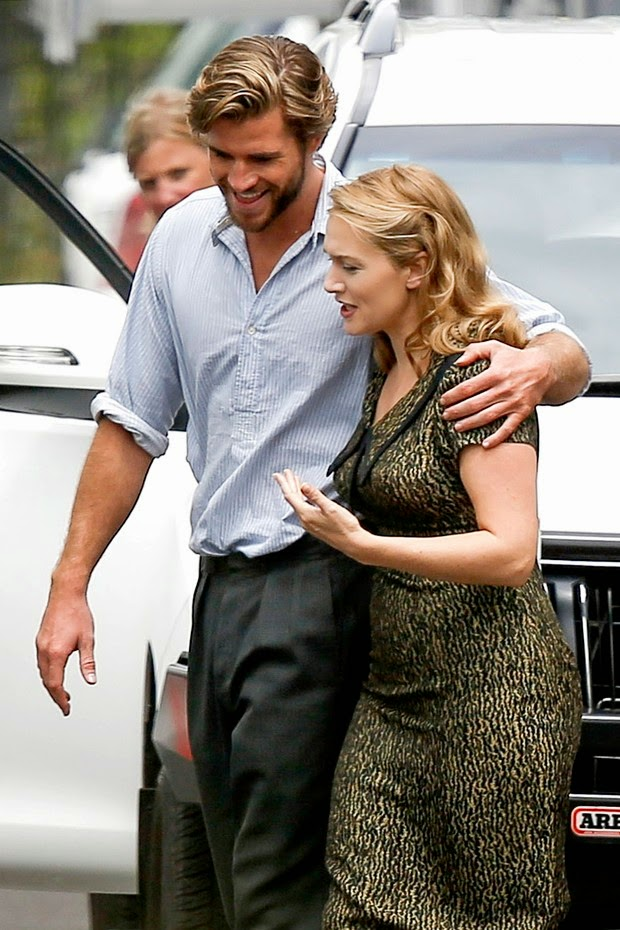 Paparazzi: Liam Hemsworth and Kate Winslet walking embraced in Sept