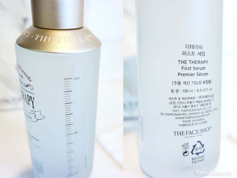 The Face Shop The Therapy First Serum bottle