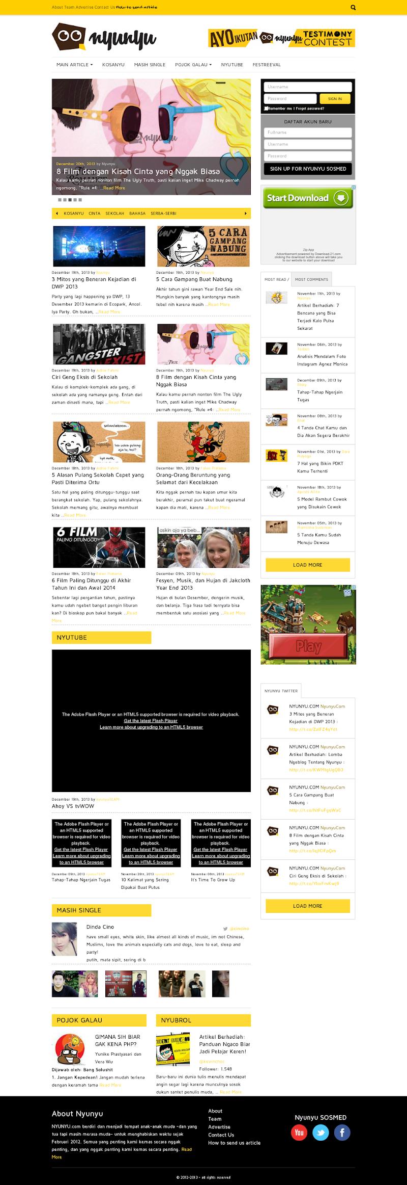 Nyunyu.com - Website Nyeleneh - Yang Penting Nggah Penting