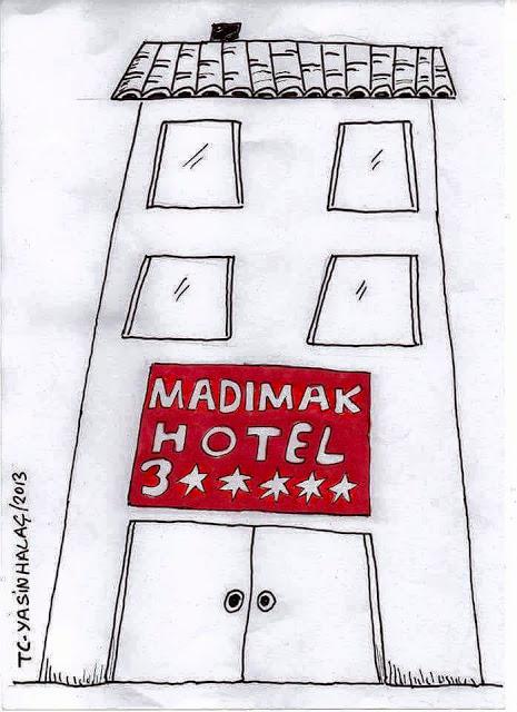 madımak hotel karikatür