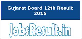 Gujarat Board 12th Result 2016