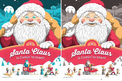 Santa Claus is Comin' to Town Screen Print by Florey x Mad Duck Posters