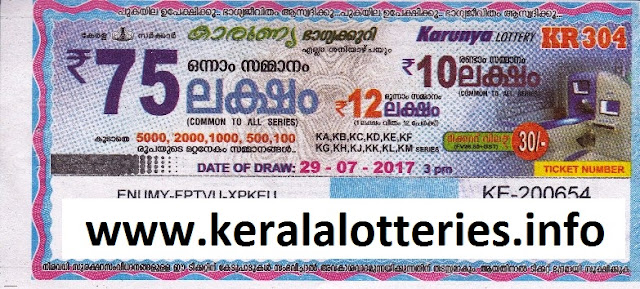 Karunya Lottery_ (KR-304) on July 29, 2017