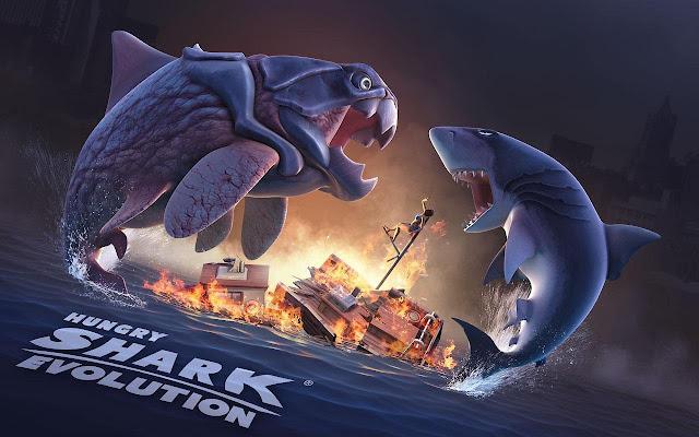 تحميل لعبة القرش الجائع hungry shark evolution v3.9.2 مهكرة ( نقود ذهبية وجواهر غير محدودة ) اخر اصدار