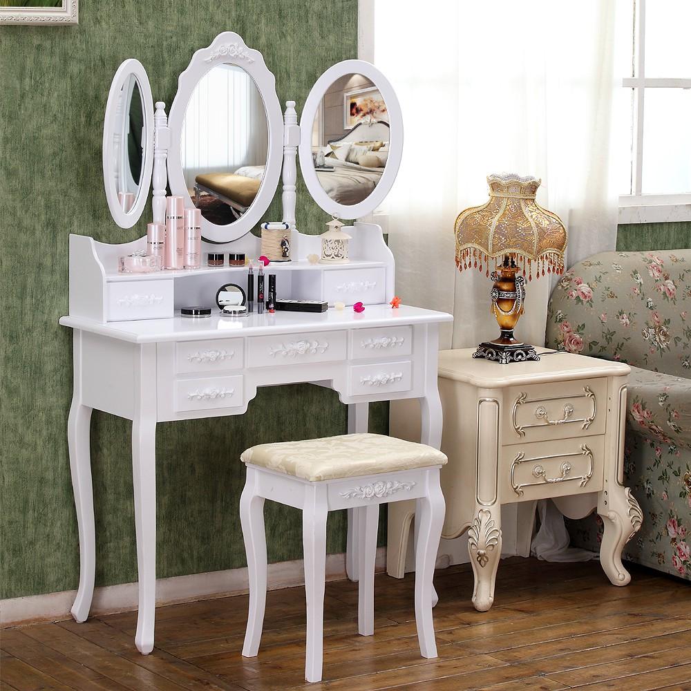 Ein Perfekter Schminktisch Hat Im Besten Fall Drei Spiegel. Einen Großen  Spiegel In Der Mitte Der Sich Auch Um 360° Drehen Lässt, Sowie Zwei  Seitliche ...