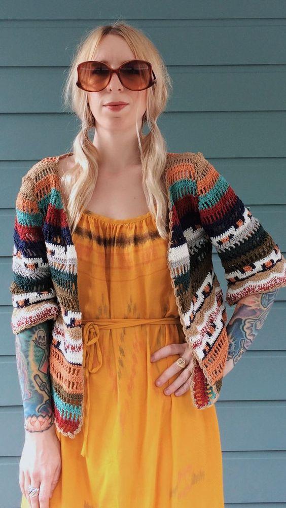 szydełkowy sweterek