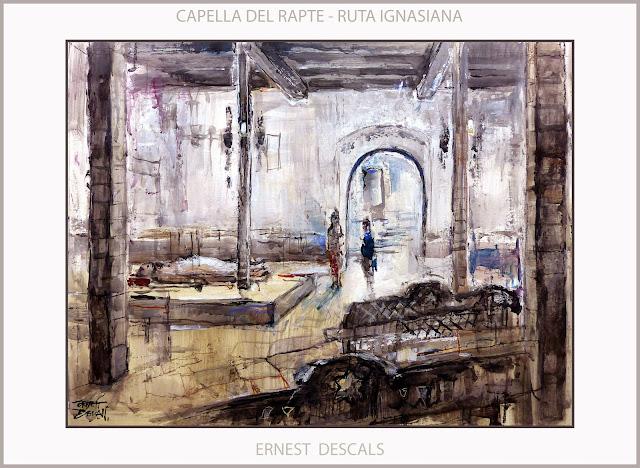 RUTA IGNASIANA-CAPELLA DEL RAPTE-ART-PINTURA-MANRESA-SANT IGNASI-PINTURES-MONUMENTS-ARTISTA-PINTOR-ERNEST DESCALS-