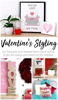 Valentine's Day Home Decor Styling – inspiration, easy valentine's decoration ideas, red pink home décor theme