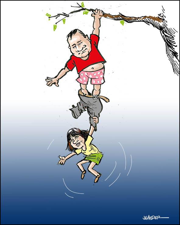 Miljöpartiets kris drabbar även socialdemokraterna..